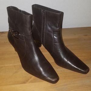 Anne Klein Greta leather ankle boots